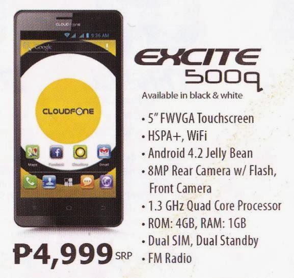 Cloudfone Excite 500q