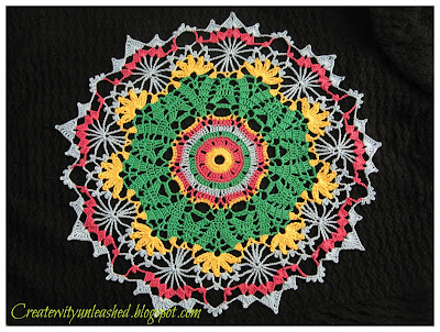 Crochet colorful doily