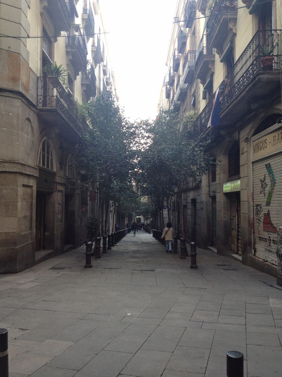 streets in barcelona april