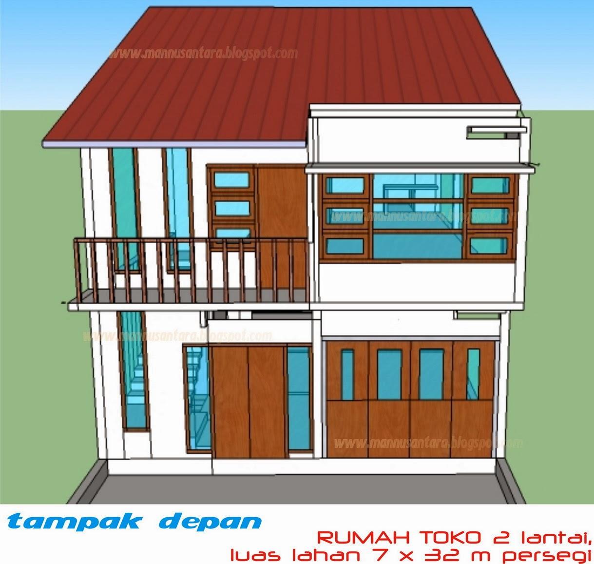 desain rumah bentuk rumah toko 11 15 home center