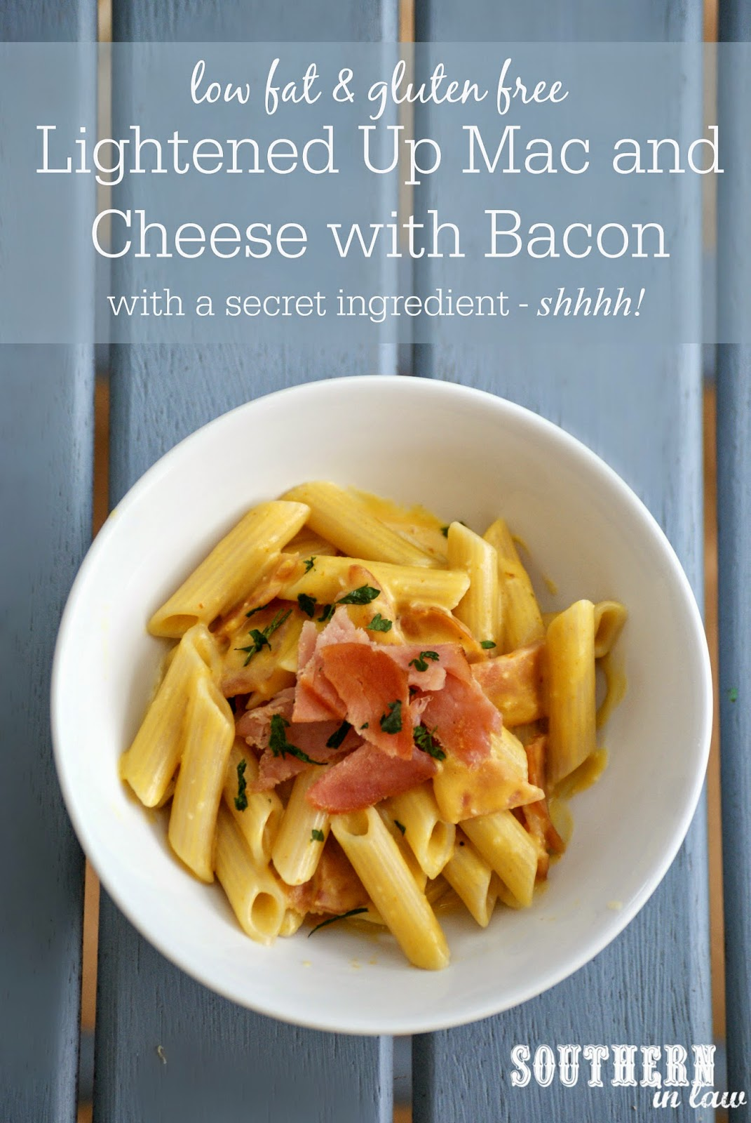 Healthy Bacon Mac and Cheese with Pumpkin | healthy, low fat, low calorie, gluten free, clean eating