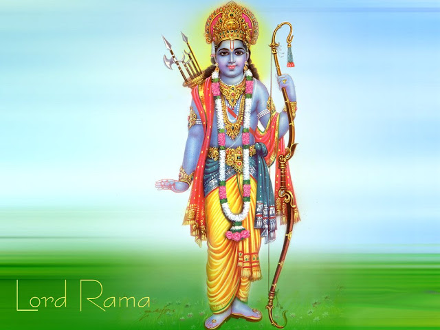 Lord Rama Standing Wallpaper Free Download