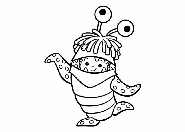 Monsters Inc Boo Coloring Pages