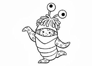 monsters inc boo coloring pages on boo monsters inc coloring pages