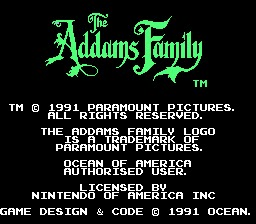 Addams Family Title Screen