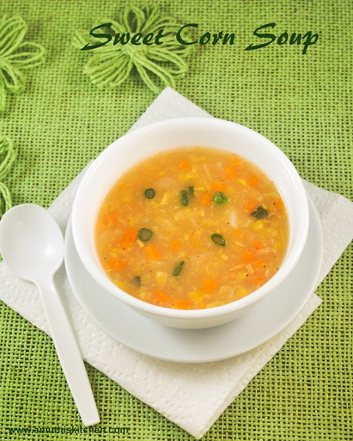 Sweet Corn Soup Indian Style