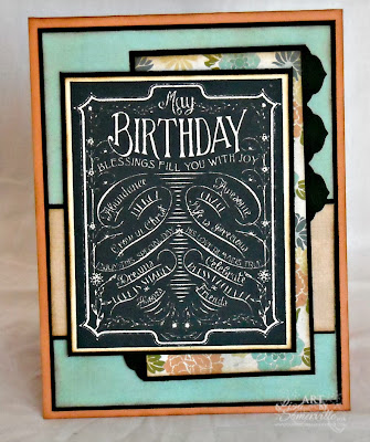 Stamps - Our Daily Bread Designs Chalkboard Thank You/Birthday, ODBD Exclusive Antique Labels and Border Dies