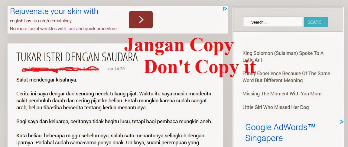 tutorial blogspot, anti copy paste, script anti copy artikel blog