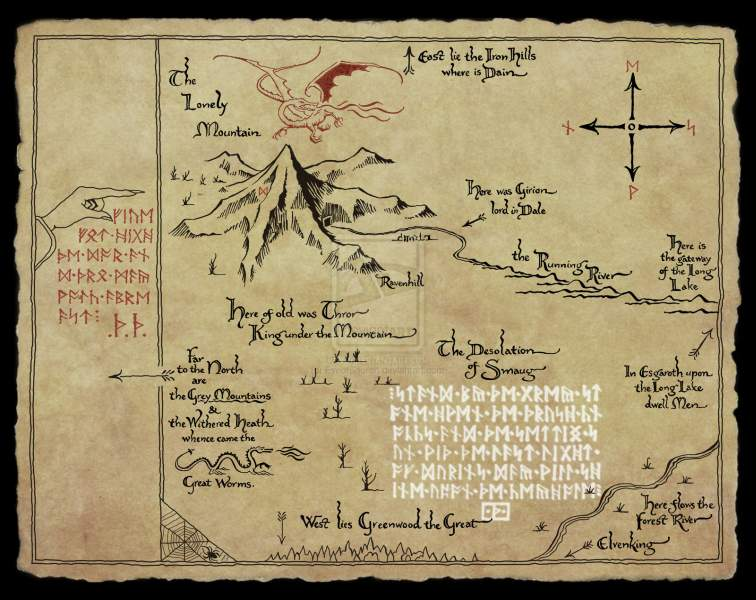 thor map in the hobbit