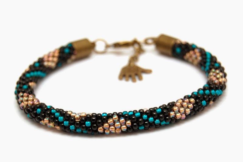 bransoletka koralikowa szydełkowa bead crochet bracelet 12