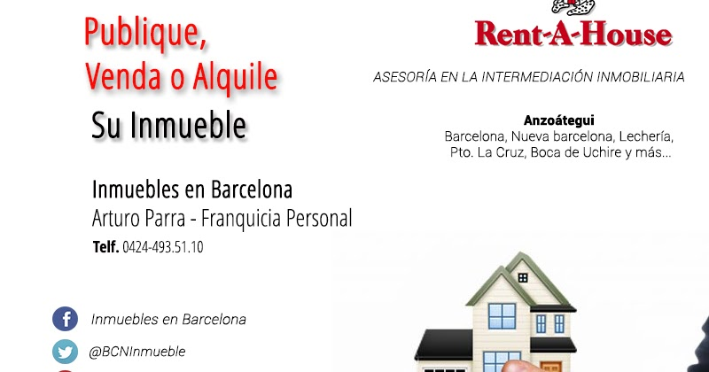 Publique venda o alquile su inmueble apartamento casa for Rent a house la