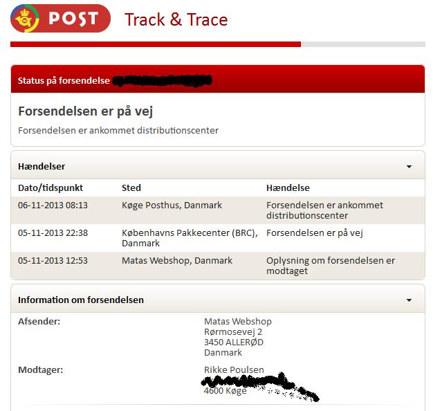 hvor er min pakke post danmark