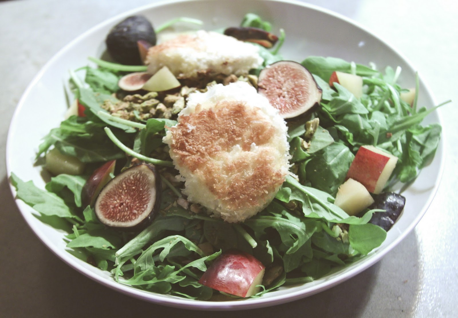 à la Alison: Panko-Fried Goat Cheese Salad with Figs
