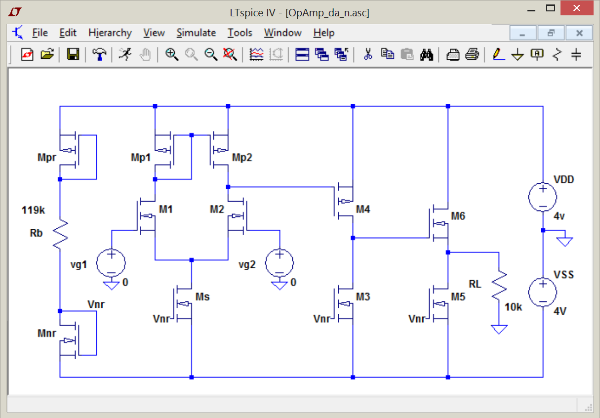 Basics Of Mosfet Models And Circuits With Labview May 2015 Circuit Example The First Is Based On A Standard Operational Amplifier Consisting Differential Stage Common Source Follower