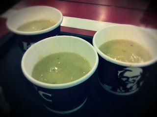 cream sup kfc