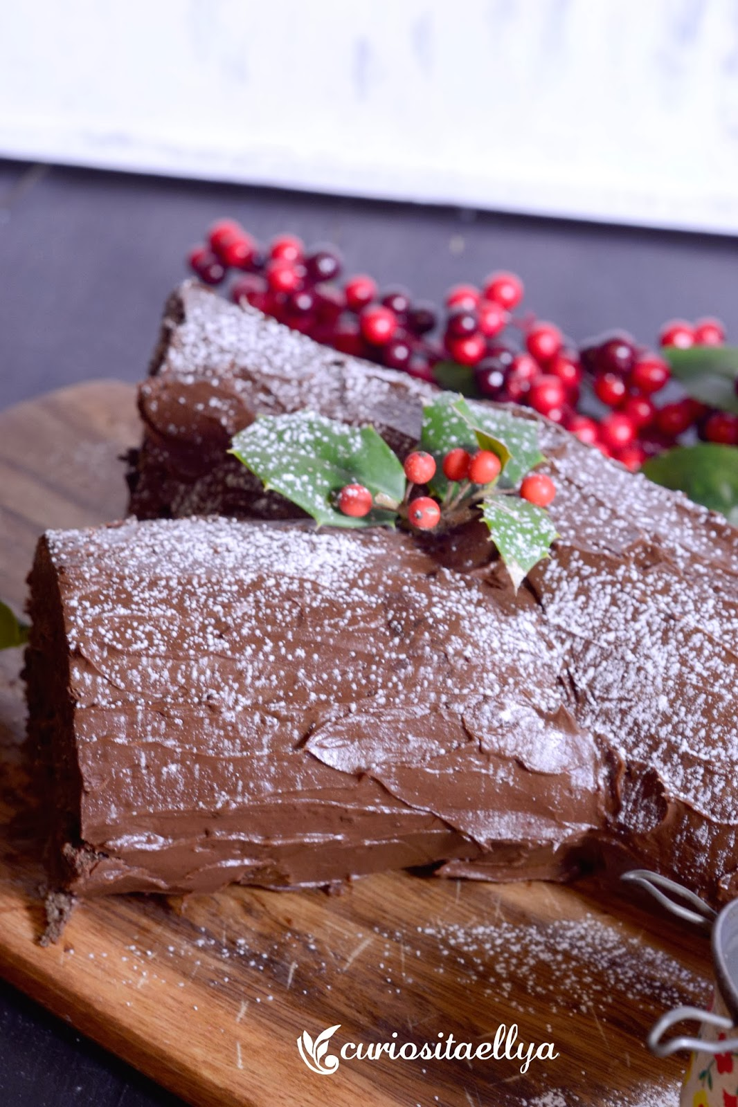 christmas log recipe with biscuits