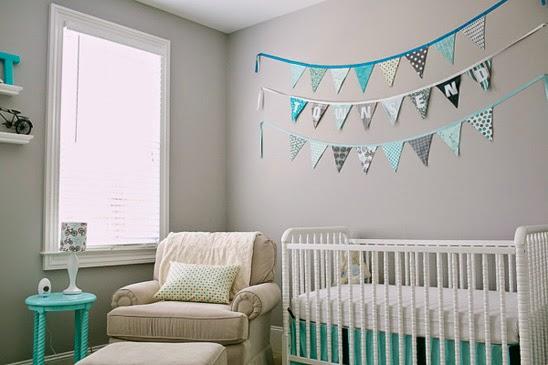 Dormitorios de beb en turquesa y gris ideas para for Decoracion habitacion bebe turquesa y gris