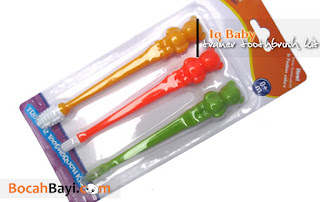 Trainer Toothbrush Kit Iq Baby, Sikat Gigi Lidah Bayi