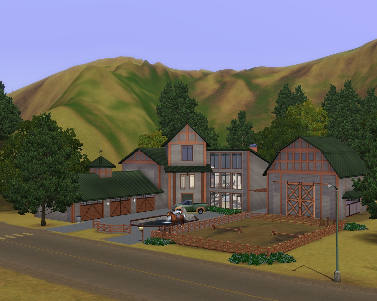 Summer 39 s little sims 3 garden appaloosa plains the sims for Classic house sims 3