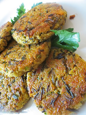 quinoa wild rice savory cakes