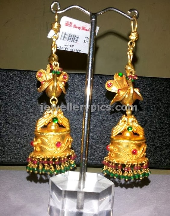 long jhumkas in gold with weight