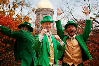 Defending the mascot of Notre Dame Fighting Irish, the leprechaun (Photo: University of Indiana)
