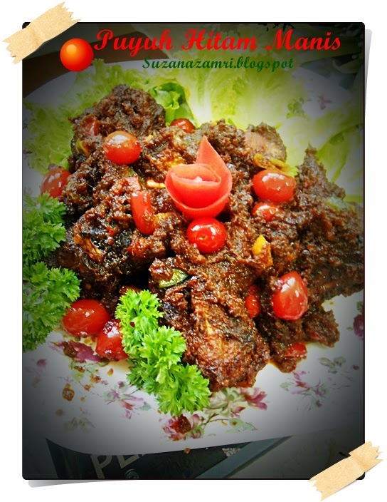 ..Cooking with soul.....: PUYUH HITAM MANIS