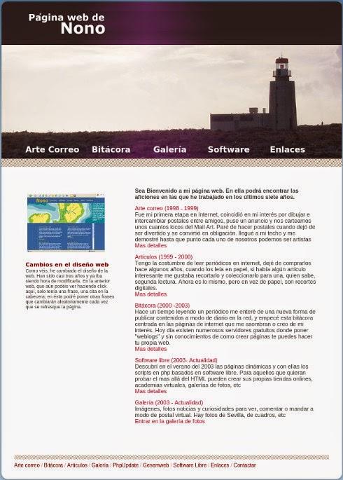 Web de Nono año 2010