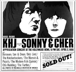 Sonny & Cher KHJ Concert Ad