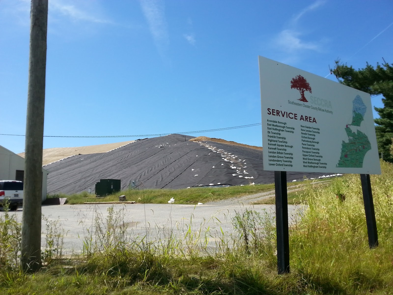 unionville in the news  this is the part of the seccra landfill that is being capped