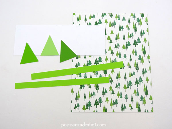Easy Paint Chip Christmas Tree Cards