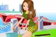 Bisiklete Binen Kız Giydirme Oyunu