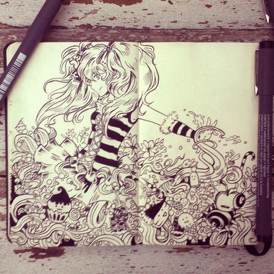 10-#31-Queen-Bee-365-Days-of-Doodles-Gabriel-Picolo-www-designstack-co