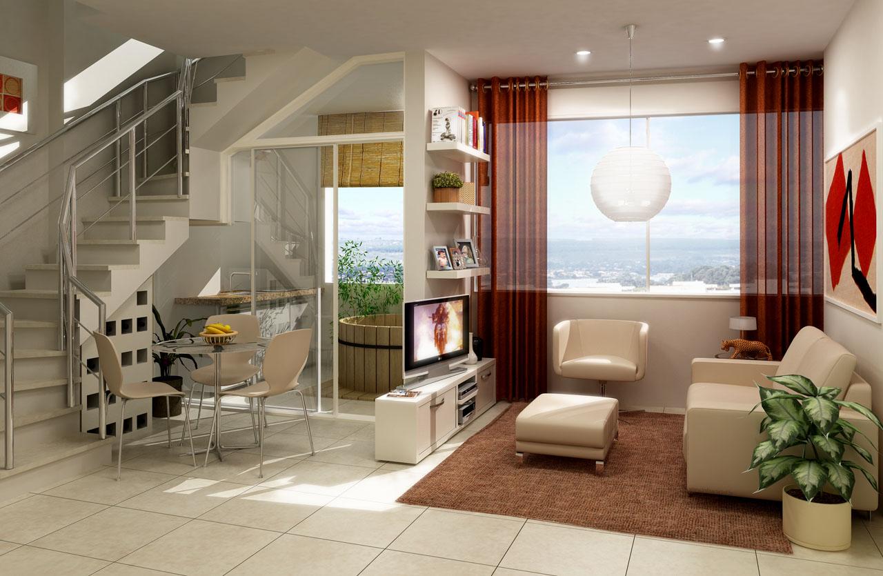 Sala Com Cozinha Americana E Escada Oppenau Info