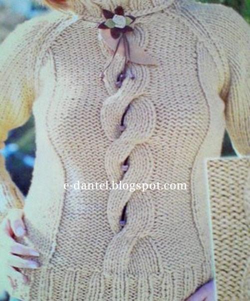 Örgü Bayan Kazak Modeli