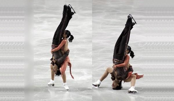 Patinador aterriza con su cabeza en el hielo