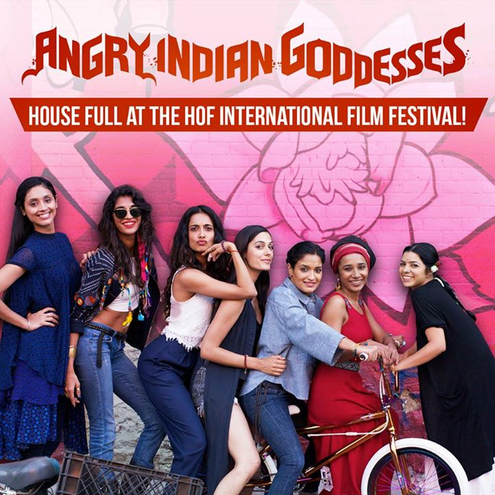 full cast and crew of bollywood movie Angry Indian Goddesses 2015 wiki, Sandhya, Tannishtha, Sarah-Jane Dias, Anushka, Amrit Maghera story, release date, Actress name poster, trailer, Photos, Wallapper