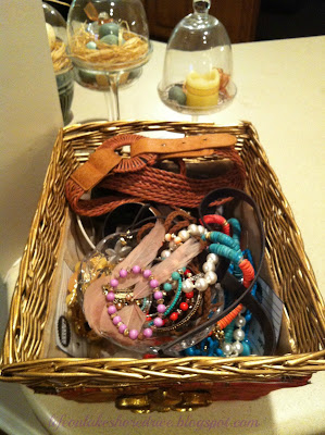 jewelry in basket