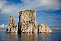 Kicker Rock, located in the east near San Cristobal