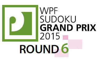 WPF Sudoku Grand Prix 2015 Round 6
