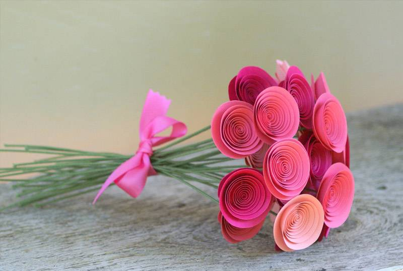 Interesting ideas for decor: Цветы из бумаги. Flowers made of paper