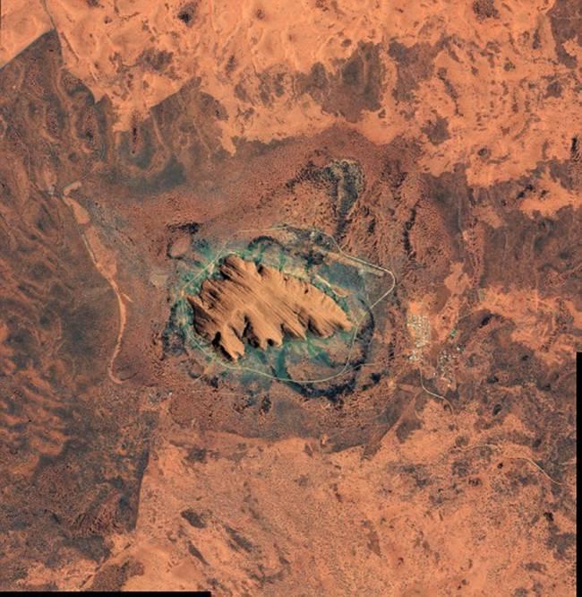 Uluru in Australia.