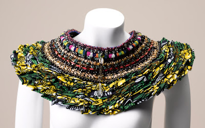 Anita Quansah african print neck piece - iloveankara.blogspot.co.uk