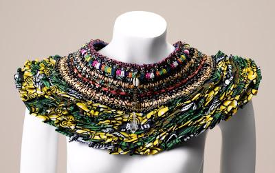 Anita Quansah african print neck piece - iloveankara.blogspot.co.uk