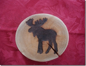 Wooden moose coasters