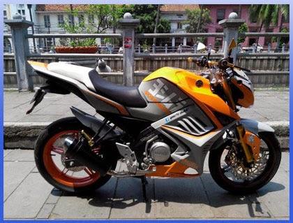 Foto Yamaha Vixion Warna Putih