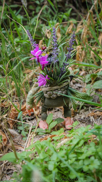ooak fantasy creature grass pixie