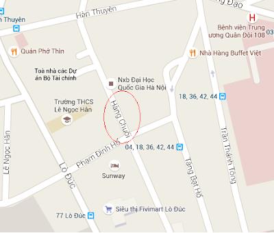 Thông tắc cống hút bể phố Hàng Chuối (Hai Bà Trưng - Hà Nội)