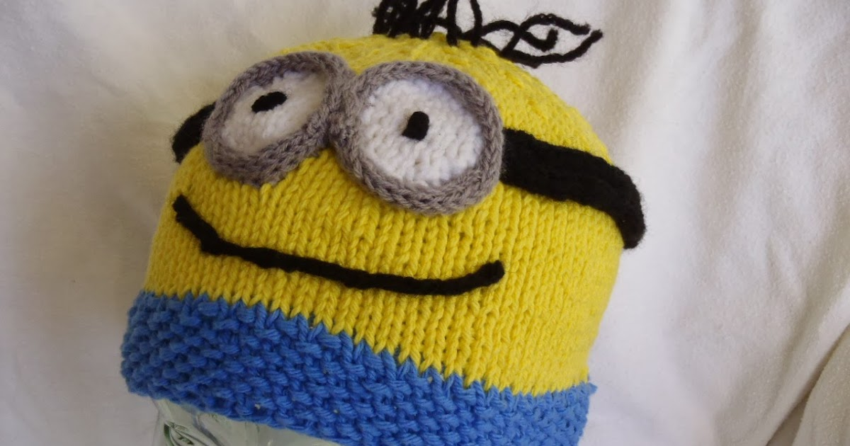 Stanas Critters Etc Knitting Patterns For Minion Hat And Evil
