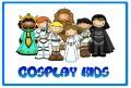Grupo infantil de cosplay